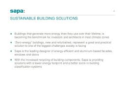 Sustainable Building Solutions Sapa 2015