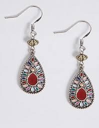 Black Bead Earrings Bronze Chandelier Earrings Jewellery M U0026s