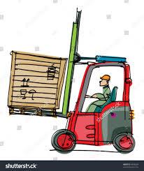 Forklift Mechanic Forklift Cartoon Stock Vector 94606669 Shutterstock