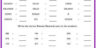 recognising roman numerals classroom secrets
