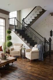 Home Interior Stairs Farmhouse Touches House Interiors Pinterest Basements Beams