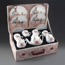 beatrix potter tea set beatrix potter large german tea set in cloth for children