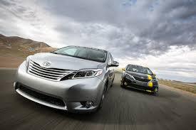 toyota minivan on the track with toyota u0027s crazy camaro killing r tuned minivan