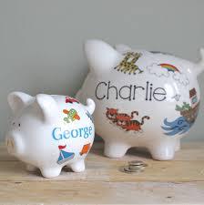 personalised piggy bank personalised piggy bank for boys by sparkle ceramics