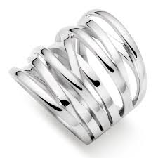 large silver rings images Silver wide strand ring 0006366 beaverbrooks the jewellers