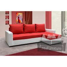 Red Corner Sofa by Corner Sofa With Sleep Function Corner Sofa With Storage Mixfurniture