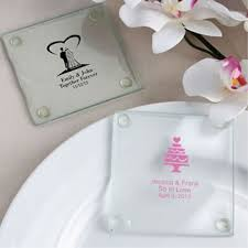 personalized wedding favors personalized wedding design glass coasters price favors