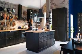 cuisine en noir stunning cuisine bois noir inox ideas design trends 2017