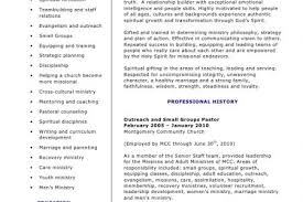 Youth Ministry Resume Examples by Youth Ministry Resume Reentrycorps