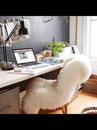 Office White Desk Furniture Lovely White Fur Desk Chair For Your Home Office Decor