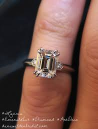emerald cut engagement rings 2 carat shown on finger lavinia deco engagement ring emerald cut