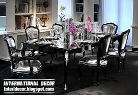 Black Dining Room Set Mirrored Dining Room Set Home Interior Design Ideas