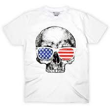 American Flag Skull Pins U0026 Bones American Flag Shirt Funny America Shirt Skull With