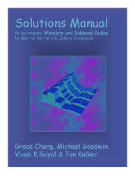 wavelets and subband coding solutions manual basis linear