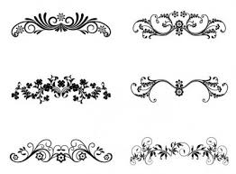 vector floral ornamental design elements vector free vector