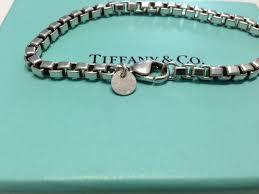 chain link bracelet silver images Tiffany co sterling silver venetian box chain link bracelet 7 5 jpg