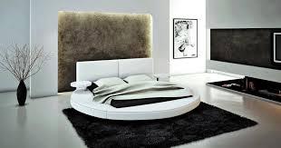 chambre avec lit rond lit cuir 2 places modèle design tarif promo