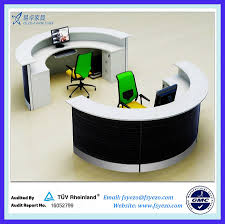 Rounded Reception Desk Half Reception Desk With 70mm Partition Curved Reception