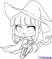 Halloween Cartoon Drawings Halloween Chibi Witch Google Search Halloween Cookies