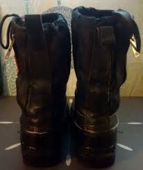 vintage yamaha black red snowmobile boots removable wool liners