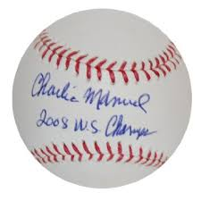 Buy It amp     s Always Sunny in Philadelphia Charlie Kelly Dating     Philadelphia Phillies Charlie Manuel Autographed Baseball with  quot      WS Champs quot  Inscription
