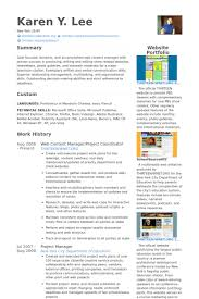 web content manager resume samples visualcv resume samples database