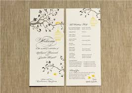 thank yous on wedding programs thank you note on wedding program c bertha fashion wedding