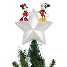 mickey and minnie mouse light up tree topper