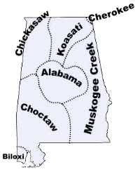 alabama indian tribes and languages