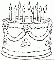 birthday cake coloring picture 100 images pictures birthday