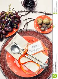 thanksgiving dinner table settings happy thanksgiving orange polka dots dinner table setting aerial