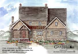 Stone House Plans Timber Stone Cottage House Plan House Plans By Garrell