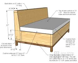 ana white build a storage sofa free and easy diy project and