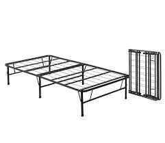 Single Folding Bed Amazon Com Queen Size Bi Fold Folding Bed Frame Kitchen U0026 Dining