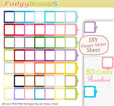 Diy Planner Template On Sale Diy Planner Stickers Small Box Stickers Rainbow Blank Box
