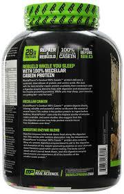 Casein Protein Before Bed Amazon Com Muscle Pharm Combat Casein Supplement Cookies U0027n