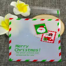 wedding gift greetings 100pcs 10x10cm christmas greetings christmas cookie bake biscuits