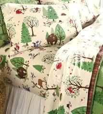 Forest Bedding Sets Woodland Bedding Woodland Friends Flannel Sheet Set Features A