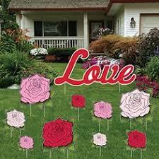 Valentine S Day Yard Decorations by Valentine U0027s Day Red Hearts Yard Decoration Victory Yard Cards
