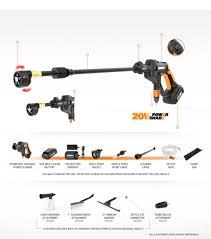 20v hydroshot portable power cleaner tool only wg629 9 worx