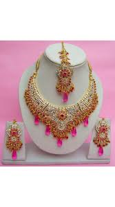 fashion jewellery necklace set images N27595 semi bridal artificial jewellery necklace set jpg