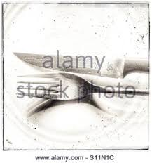 dirty cutlery on plate stock photo royalty free image 51639030