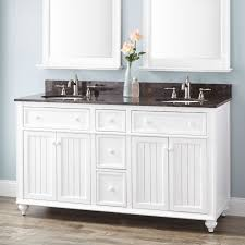 60 Bathroom Vanity Double Sink White by 60