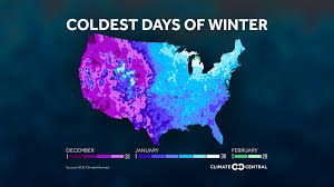 Louisiana Weather Map by The Coldest Days Of Winter In One Map Climate Central