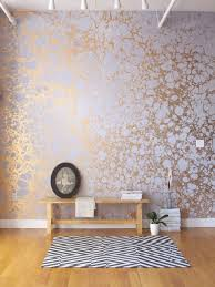 Papier Peint Rennes by Amazing Handmade Patterned Gold Wallpaper By Calico Wallpaper
