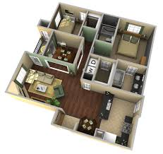create a 3d floor plan model from an architectural schematic in