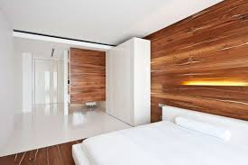 Wooden Interior by Apartment Awash With Walnut U0026 White