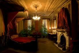 Victorian Decoration Black Walls And Floral Design In Modern Victorian Bedroom Idea
