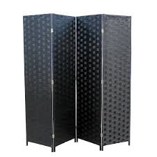 Wicker Room Divider Oregon Black Wicker 4 Panel Room Divider Nader S Furniture