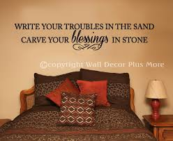 write your troubles in sand carve your blessings in stone wall inspirational wall decal sticker troubles blessings loading zoom